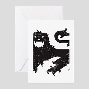 Heraldry Lion Greeting Card