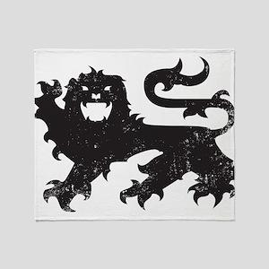 Heraldry Lion Throw Blanket