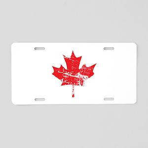 Maple Leaf Aluminum License Plate