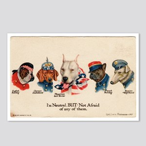 Patriotic Dogs WW1 Pit Bull Terrier Postcards (Pac
