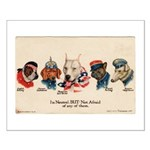 Patriotic Dogs WW1 Pit Bull Terrier Small Poster