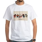 Patriotic Dogs WW1 Pit Bull Terrier White T-Shirt