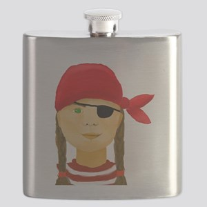 Little Pirate Girl Flask