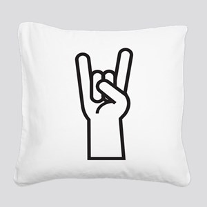 Heavy Metal Square Canvas Pillow