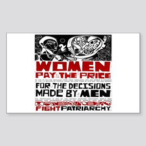 Fight Patriarchy Sticker (Rectangle)