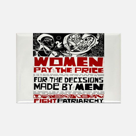 Fight Patriarchy Rectangle Magnet (10 pack)