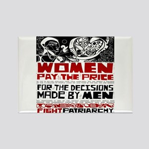 Fight Patriarchy Rectangle Magnet
