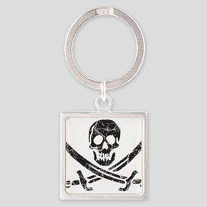 Pirate Cross Square Keychain