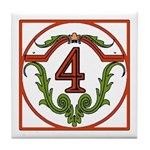 Red Spanish Letter Tile 4 Tile Coaster