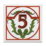 Red Spanish Letter Tile 5 Tile Coaster