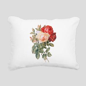 Three Roses Rectangular Canvas Pillow