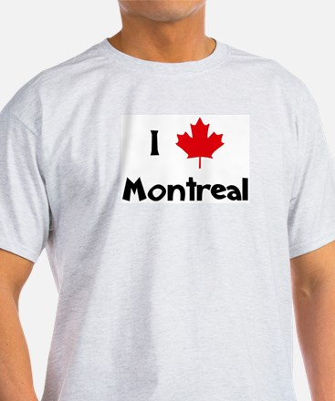 I Love Montreal Ash Grey T-Shirt