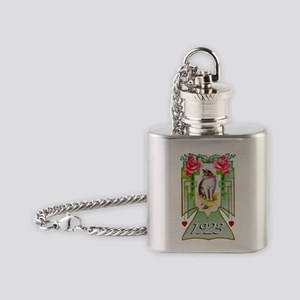 Art Deco Cat 1923, 90th Flask Necklace