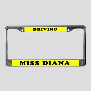 Driving Miss Diana License Plate Frame