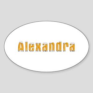 Alexandra Beer Oval Sticker