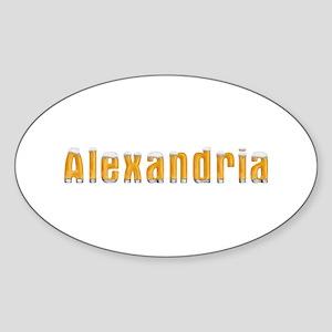 Alexandria Beer Oval Sticker
