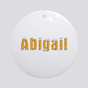 Abigail Beer Round Ornament