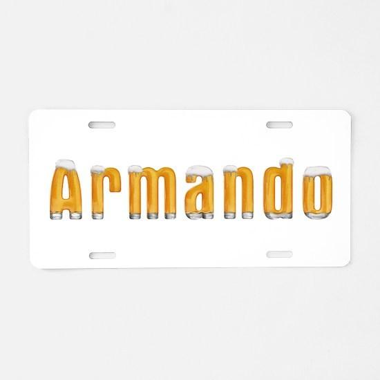 Armando Beer Aluminum License Plate