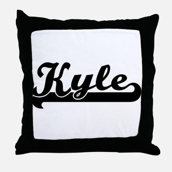 Black jersey: Kyle Throw Pillow