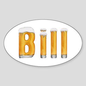 Bill Beer Oval Sticker