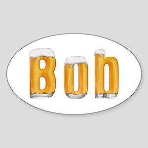 Bob Beer Oval Sticker
