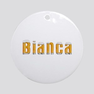 Bianca Beer Round Ornament