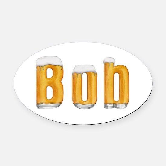 Bob Beer Oval Car Magnet