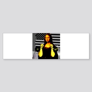 Mona Lisa Hits the Bells Sticker (Bumper)