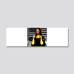 Mona Lisa Hits the Bells Car Magnet 10 x 3