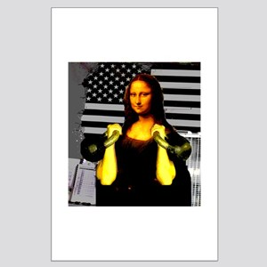 Mona Lisa Hits the Bells Large Poster