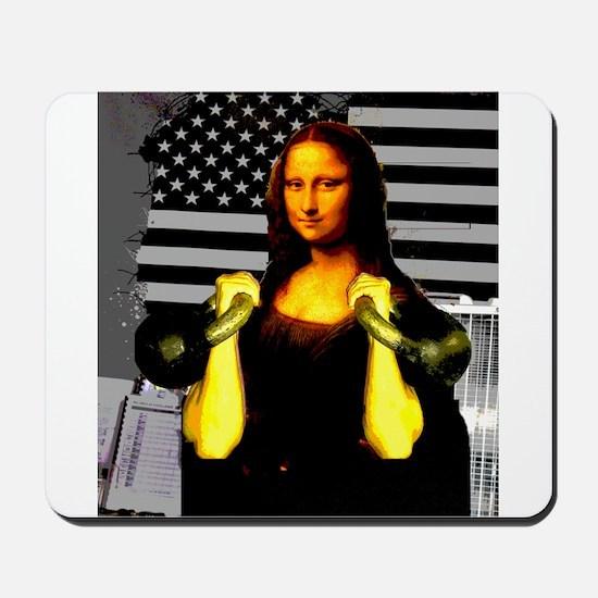 Mona Lisa Hits the Bells Mousepad