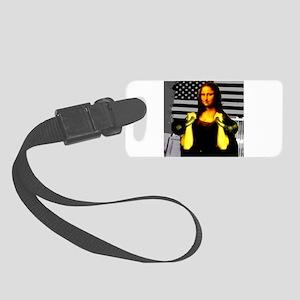 Mona Lisa Hits the Bells Small Luggage Tag