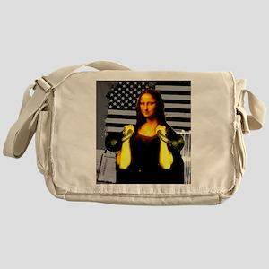 Mona Lisa Hits the Bells Messenger Bag