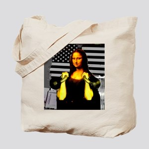 Mona Lisa Hits the Bells Tote Bag