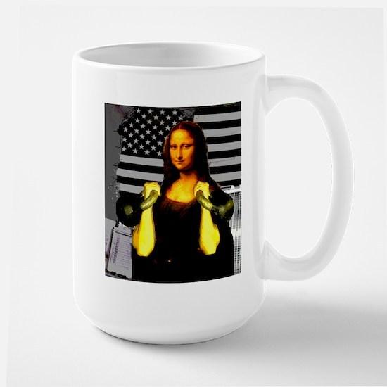 Mona Lisa Hits the Bells Large Mug