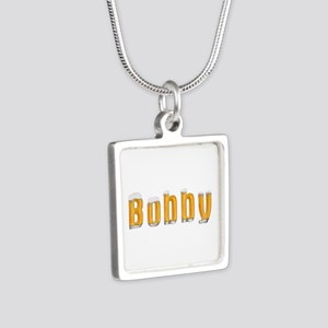 Bobby Beer Silver Square Necklace