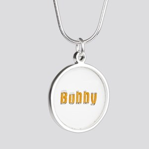 Bobby Beer Silver Round Necklace