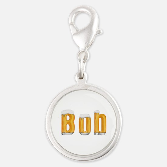 Bob Beer Silver Round Charm