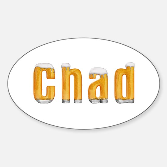 Chad Beer Oval Decal