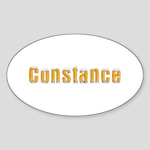 Constance Beer Oval Sticker