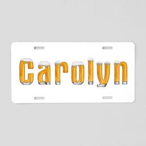 Carolyn Beer Aluminum License Plate