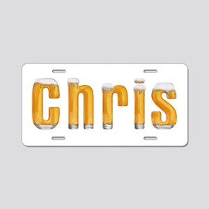 Chris Beer Aluminum License Plate