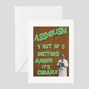 Assholism Greeting Card