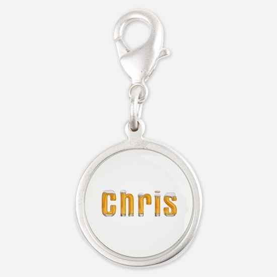 Chris Beer Silver Round Charm