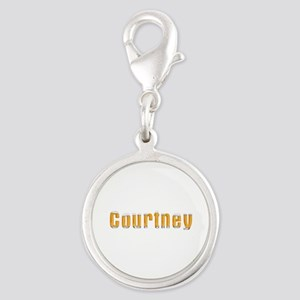 Courtney Beer Silver Round Charm