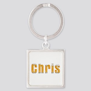 Chris Beer Square Keychain