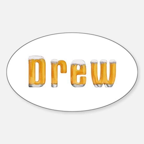 Drew Beer Oval Decal