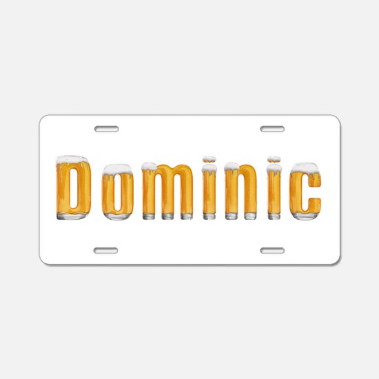 Dominic Beer Aluminum License Plate