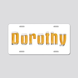 Dorothy Beer Aluminum License Plate