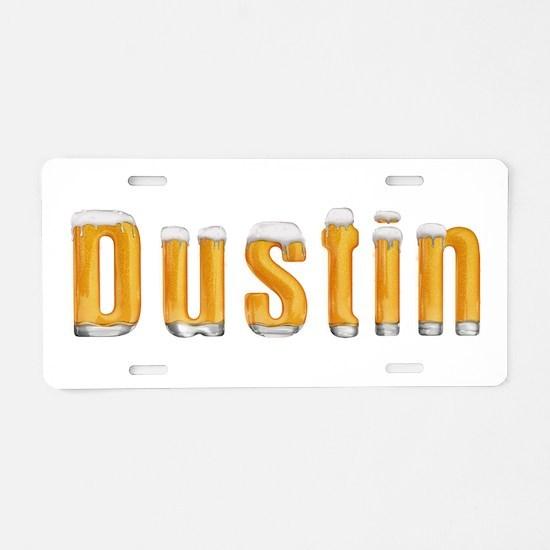 Dustin Beer Aluminum License Plate